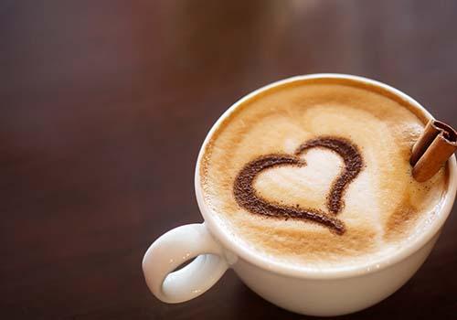 coffee with heart in foam